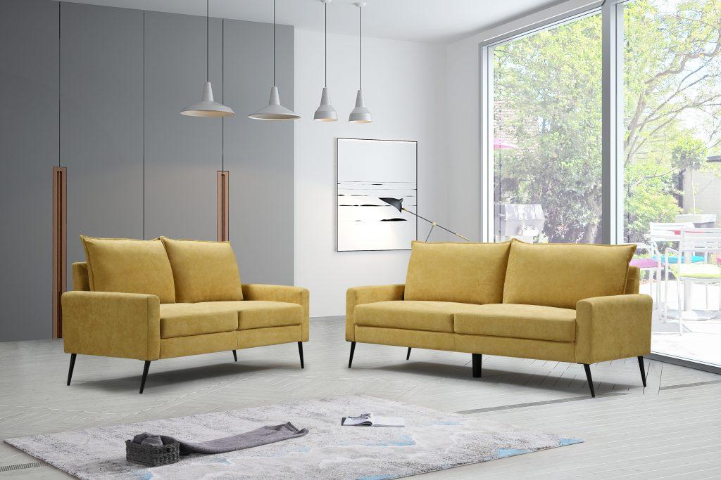 ספה בצבע חרדל